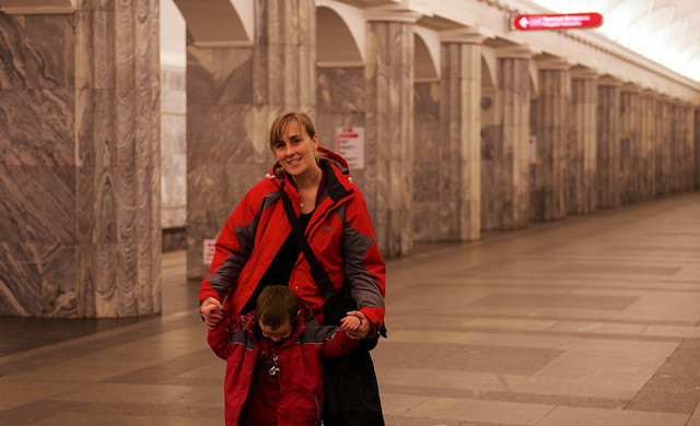 Marble halls in the metro