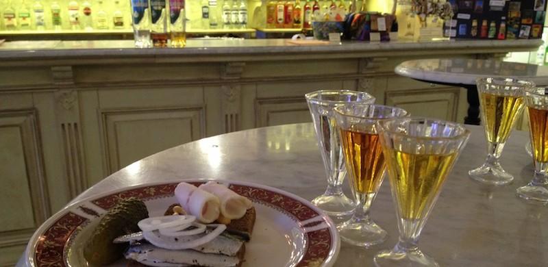 Tasting in the bar