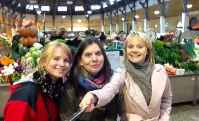 At the food market